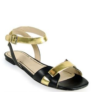 Elizabeth and James Paige Metallic Sandals